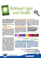 Artificial Light and Health foldout