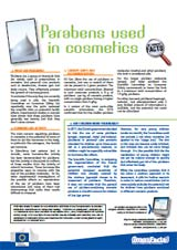Parabens used in cosmetics foldout